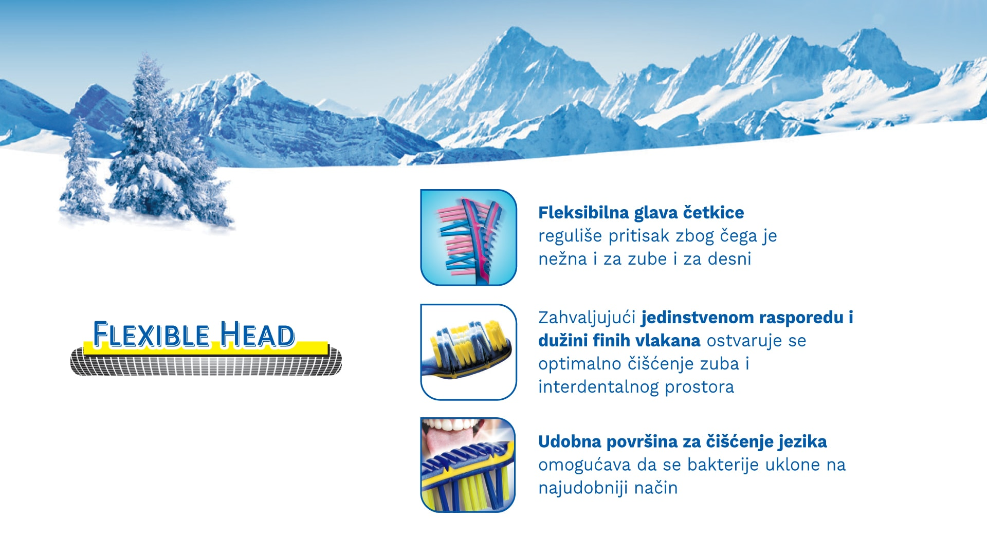 Četkica za zube TRISA Flexible Head 3