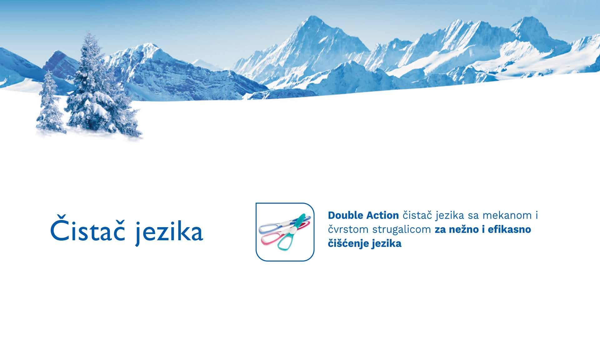 Čistač jezika TRISA Tongue Cleaner Double Action Banners