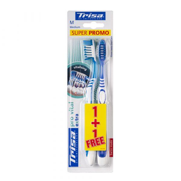 Četkice za zube TRISA Extra Pro Vital Duo Medium