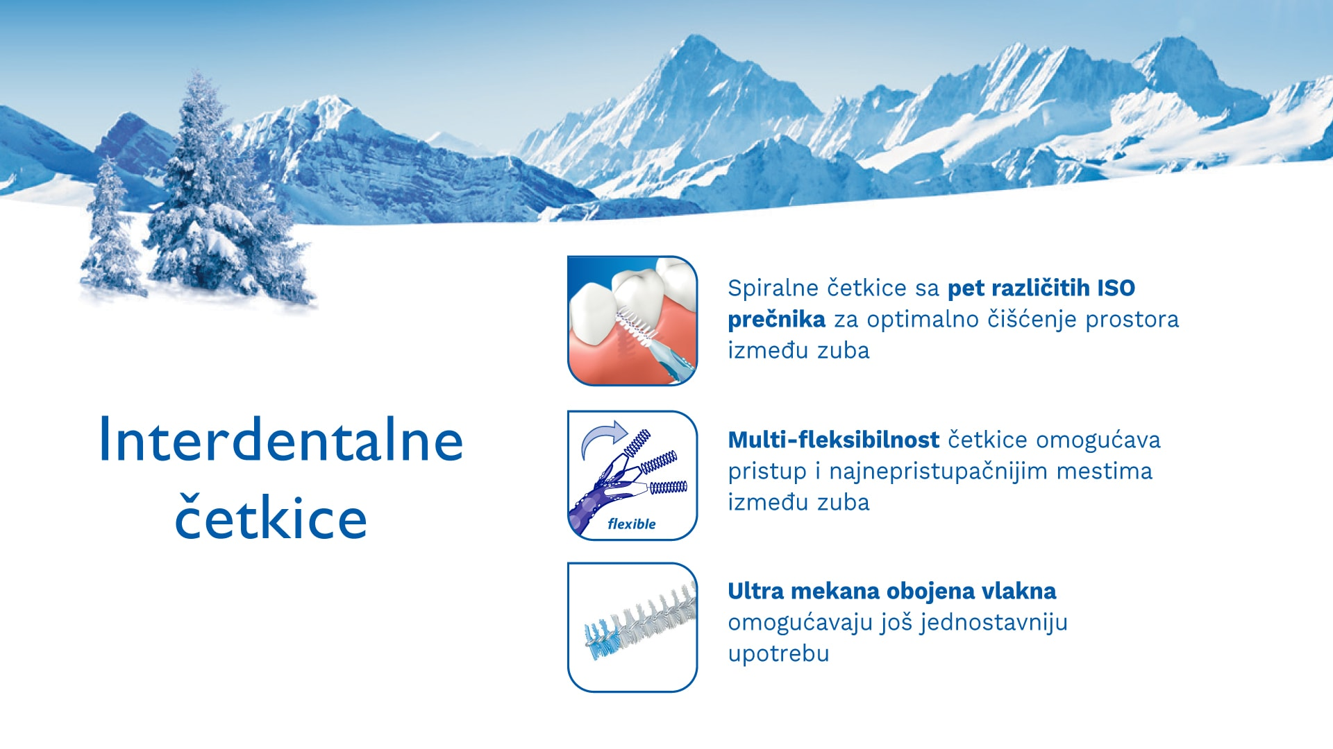 Interdentalne četkice za zube TRISA Interdental Brushes