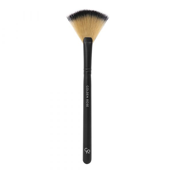 Lepezasta četkica za hajlajter i bronzer GOLDEN ROSE Fan Brush