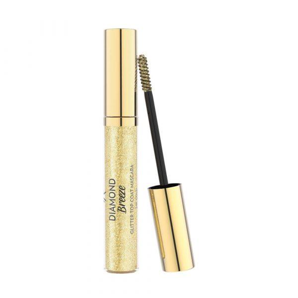 Zlatna gliter maskara GOLDEN ROSE Diamond Breeze Glitter Top Coat Mascara 24k Gold