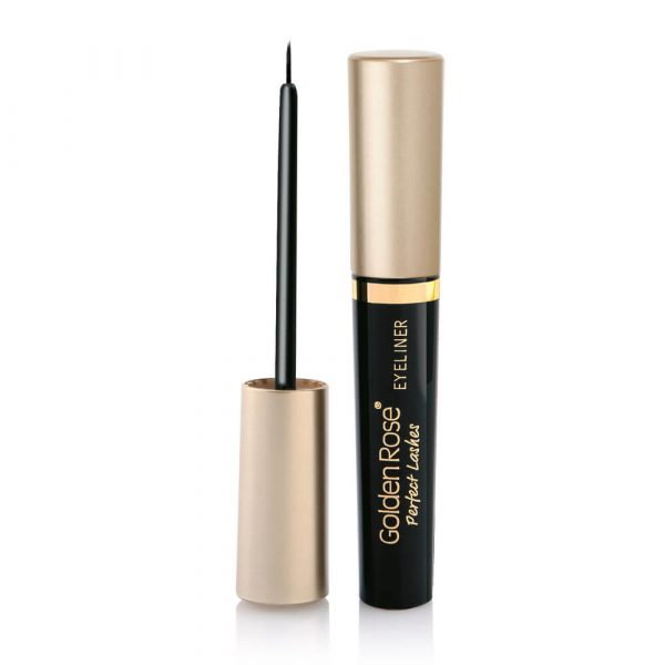 Intezivni crni ajlajner GOLDEN ROSE Perfect Lashes Black Eyeliner