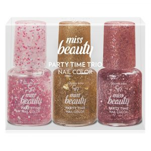 Set lakova za nokte GOLDEN ROSE Miss Beauty Party Time Trio Nail Color