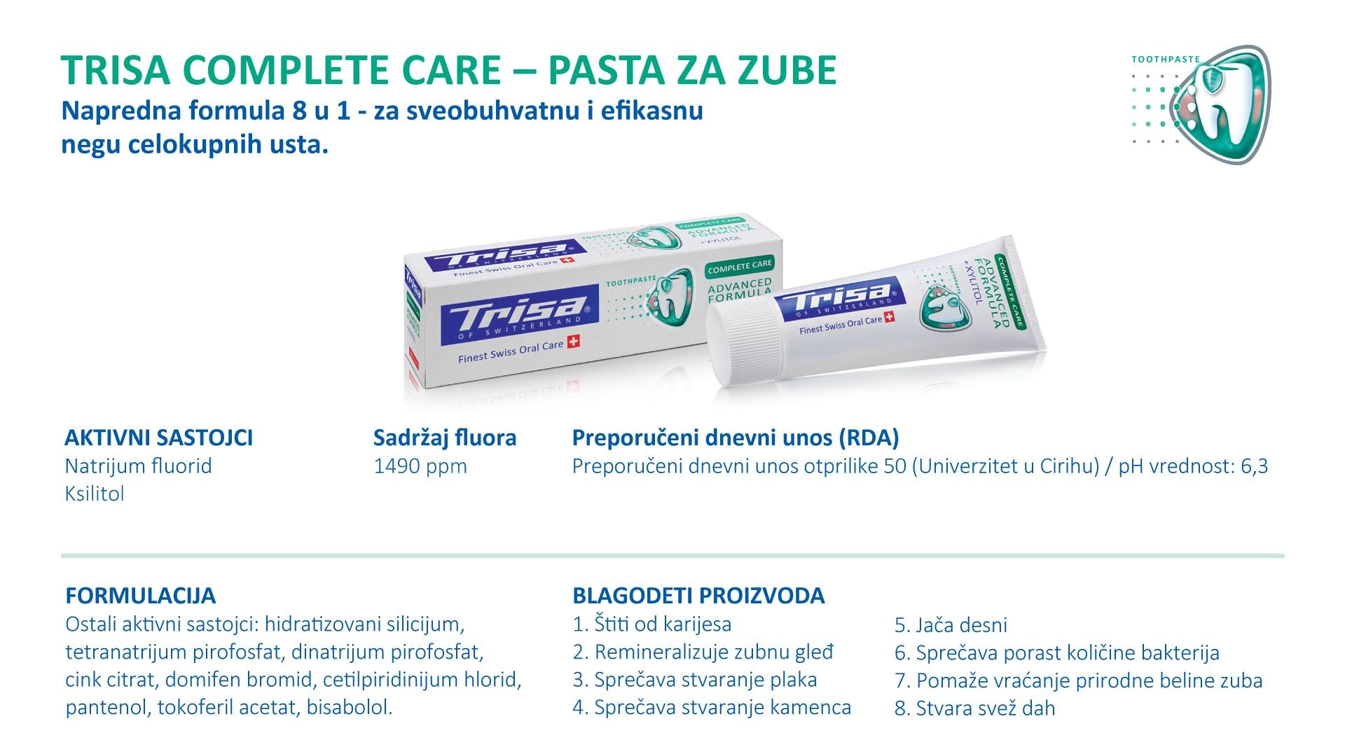 Pasta za zube TRISA Complete Care Toothpaste Banner1