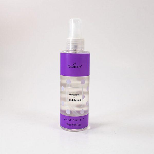 Sprej za telo ROXANNE Body Mist Lavender&Sandalwood 150ml