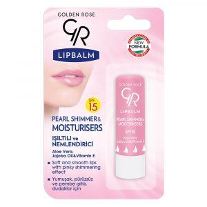 Balsam za usne GOLDEN ROSE Lip Balm Pearl Shimmer & Moisturizers SPF 15