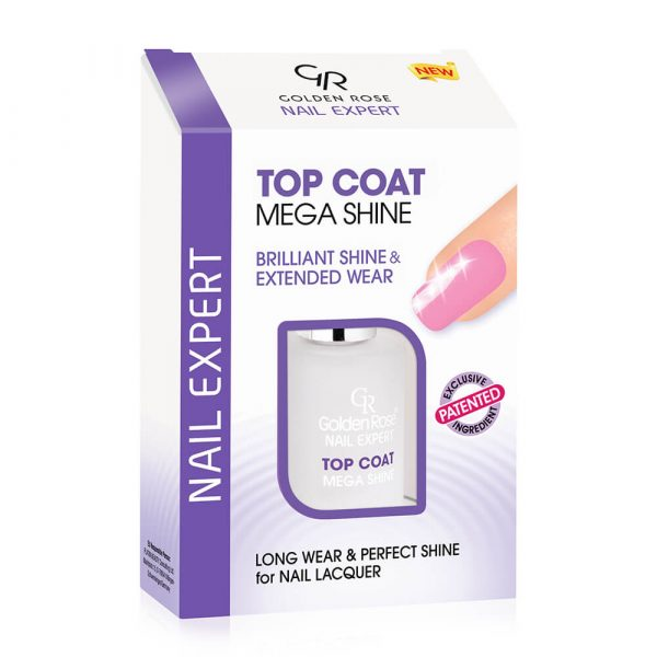 Lak za negu noktiju Golden Rose Nail Expert Top Coat Mega Shine