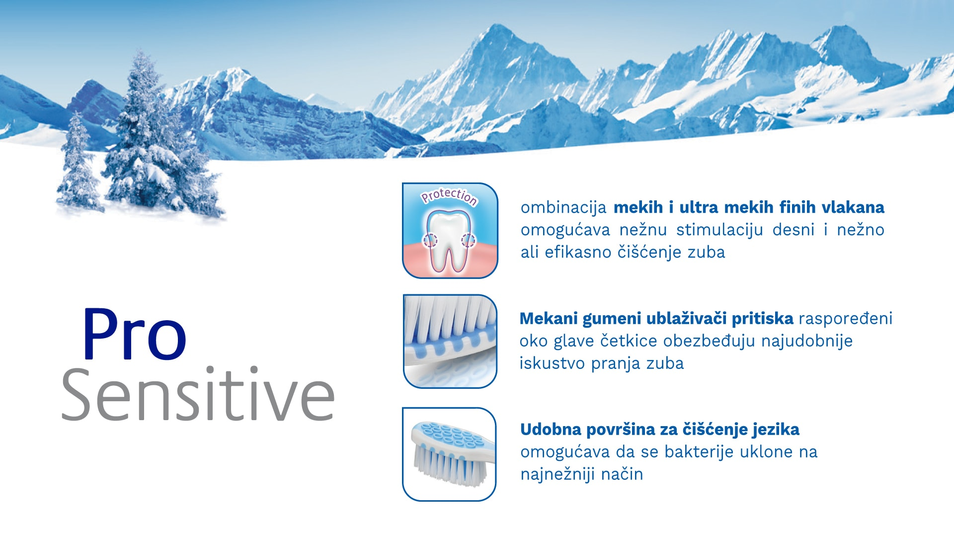 Četkica za zube TRISA Pro Sensitive Ultra Soft Banner