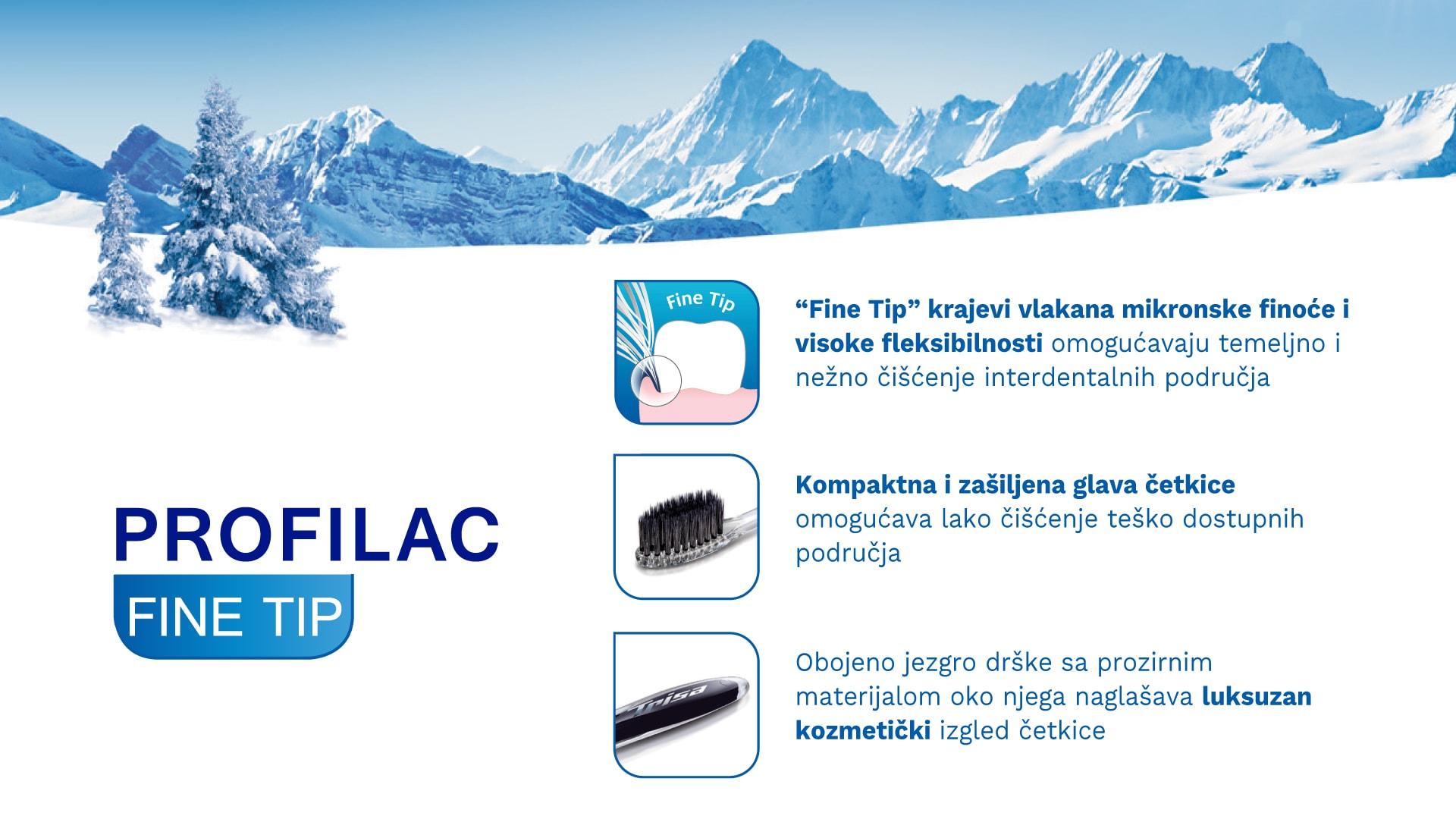 Četkica za zube TRISA Profilac Fine Tip Sensitive Banner